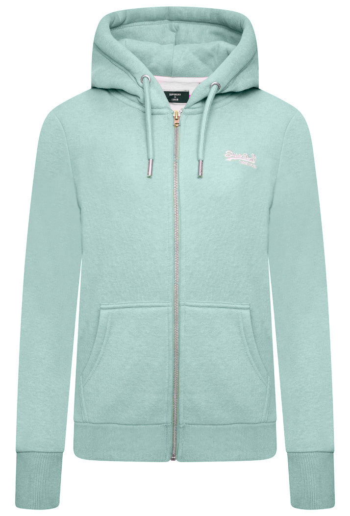 Orange Label Classic Zip Hoodie - Sage Marl