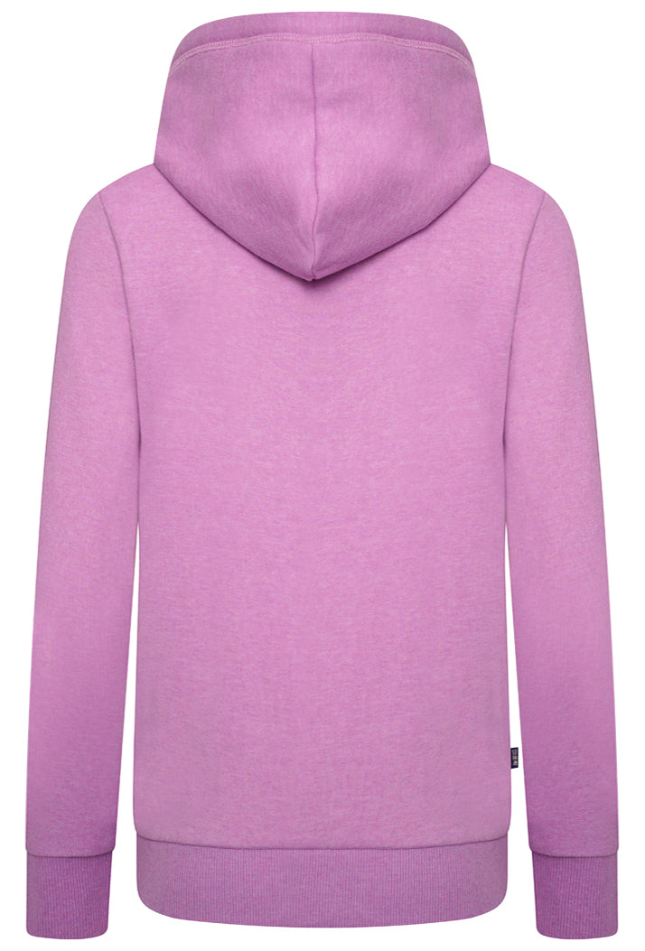 Orange Label Classic Zip Hoodie - Lavender Marl