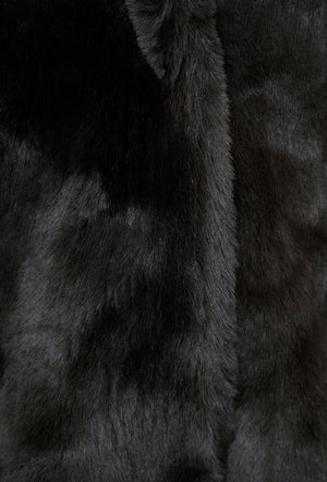 Joela Faux Fur Coat - Dark Chocolate