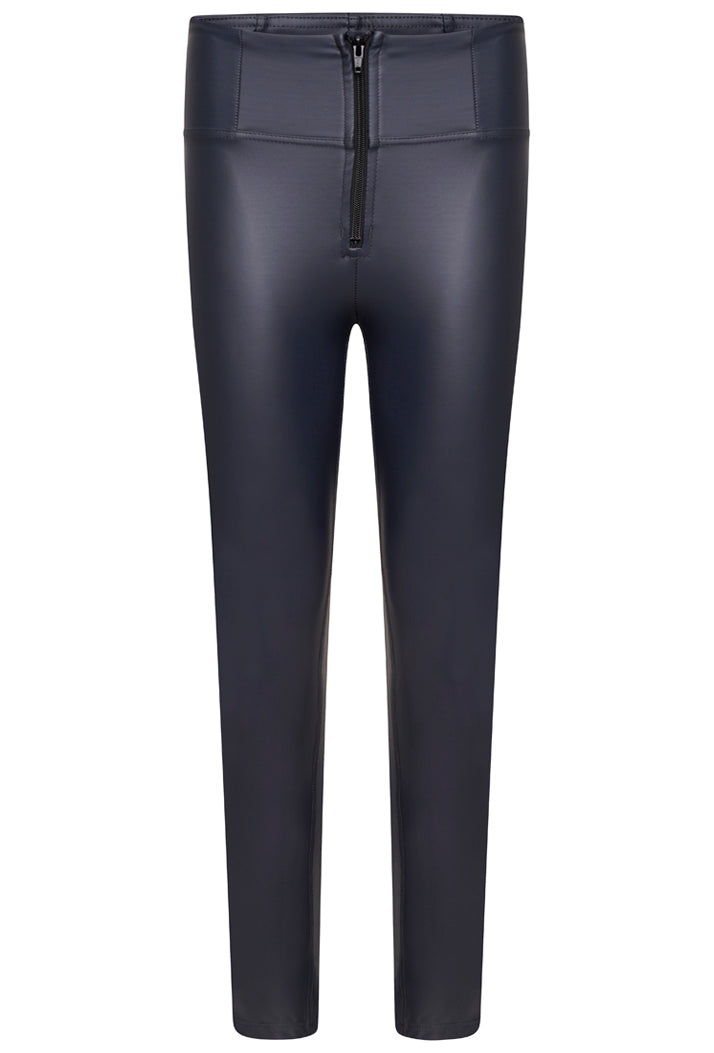 Faux Leather High-Rise WR.UP® Trousers- Phantom