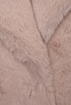 Joela Faux Fur Coat - Shell