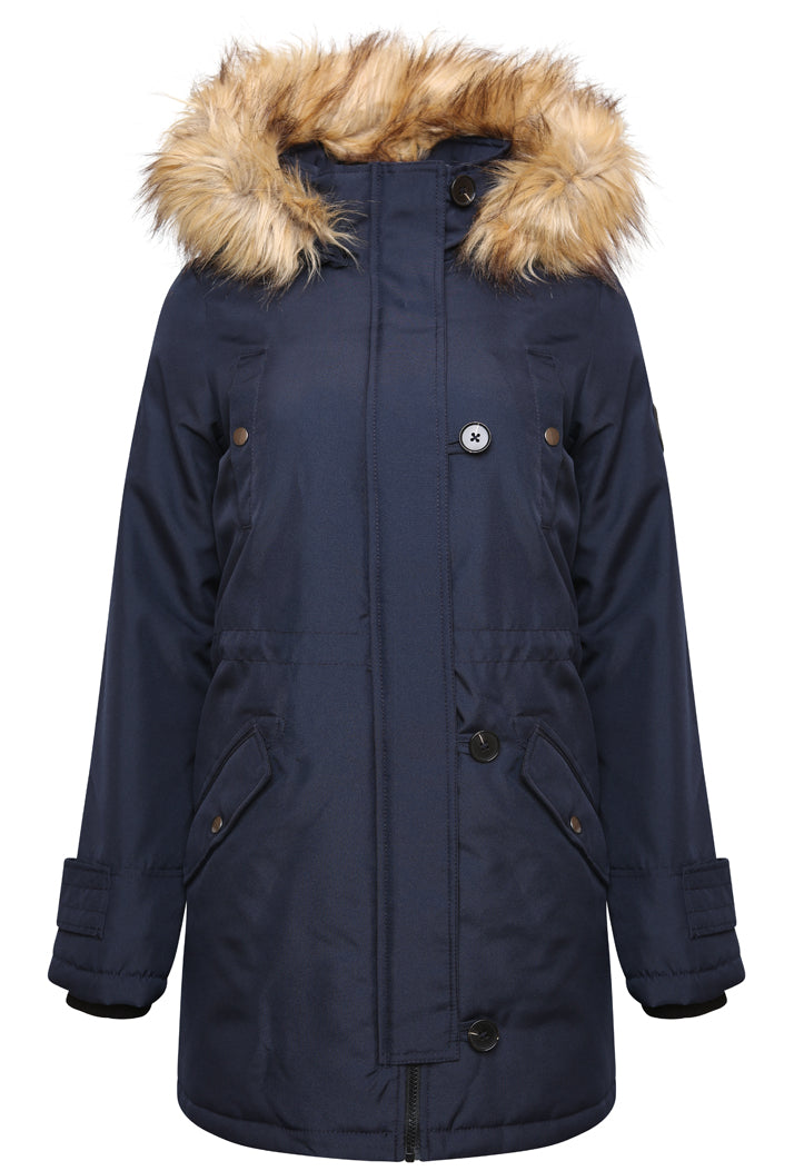 VERO MODA EXCURSION EXPEDITION 3/4 PARKA - NAVY BLAZER