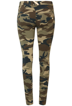 FREDDY WRUP1RF04E SHAPING EFFECT MID RISE SKINNY PANT - CAMOUFLAGE
