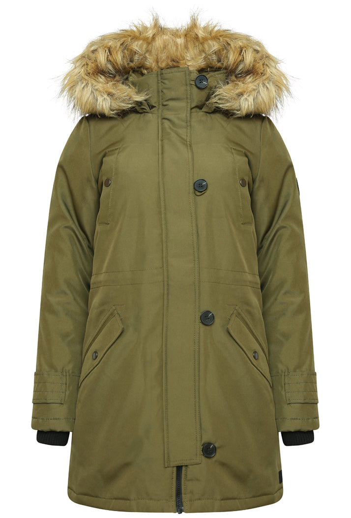 VERO MODA EXCURSION EXPEDITION 3/4 PARKA - DARK OLIVE