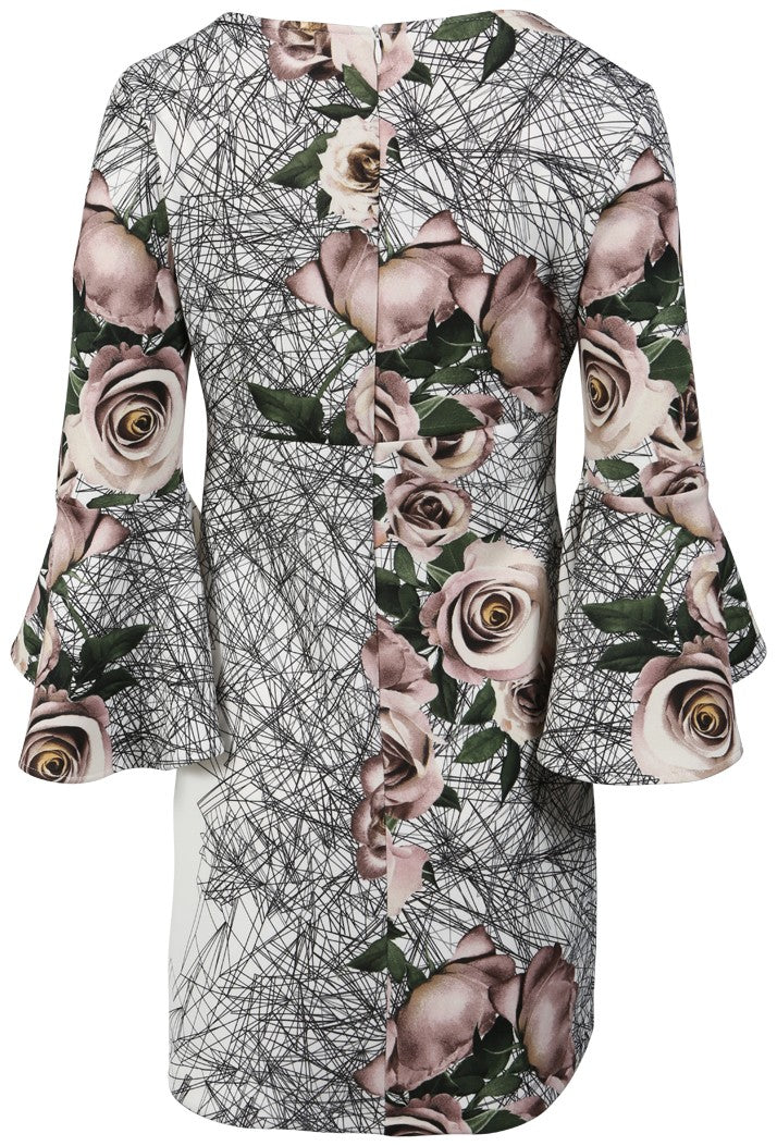 RINASCIMENTO  ROSE PRINT DRESS - PINK
