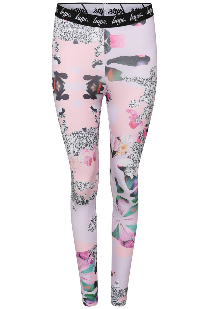 HYPE GRANIT FLORAL LEGGINGS - MULTI
