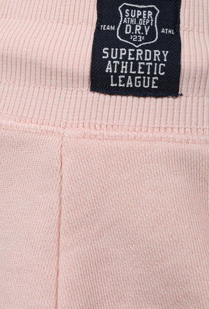 SUPERDRY ATHLETIC LEAGUE LOOPBACK SHORTS - 90'S BABY PINK MARL
