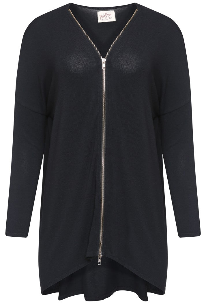 A POSTCARD FROM BRIGHTON FLICK DOUBLE ENDED ZIP TOP - BLACK