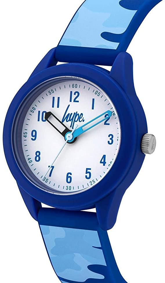 Kids Blue Camo Soft Touch Watch