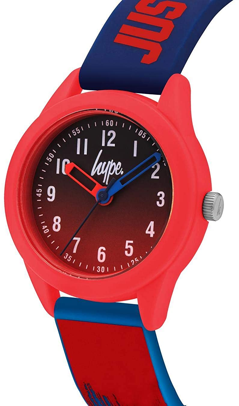 Kids Red/Blue Paint Drip Soft Touch Watch