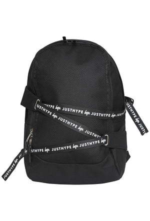 HYPE TAPE WRAP BACKPACK RUCKSACK BAG - BLACK/WHITE