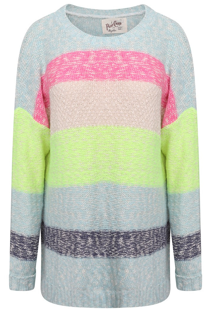 A POSTCARD FROM BRIGHTON ST IVES KNIT TOP - MULTICOLOURED