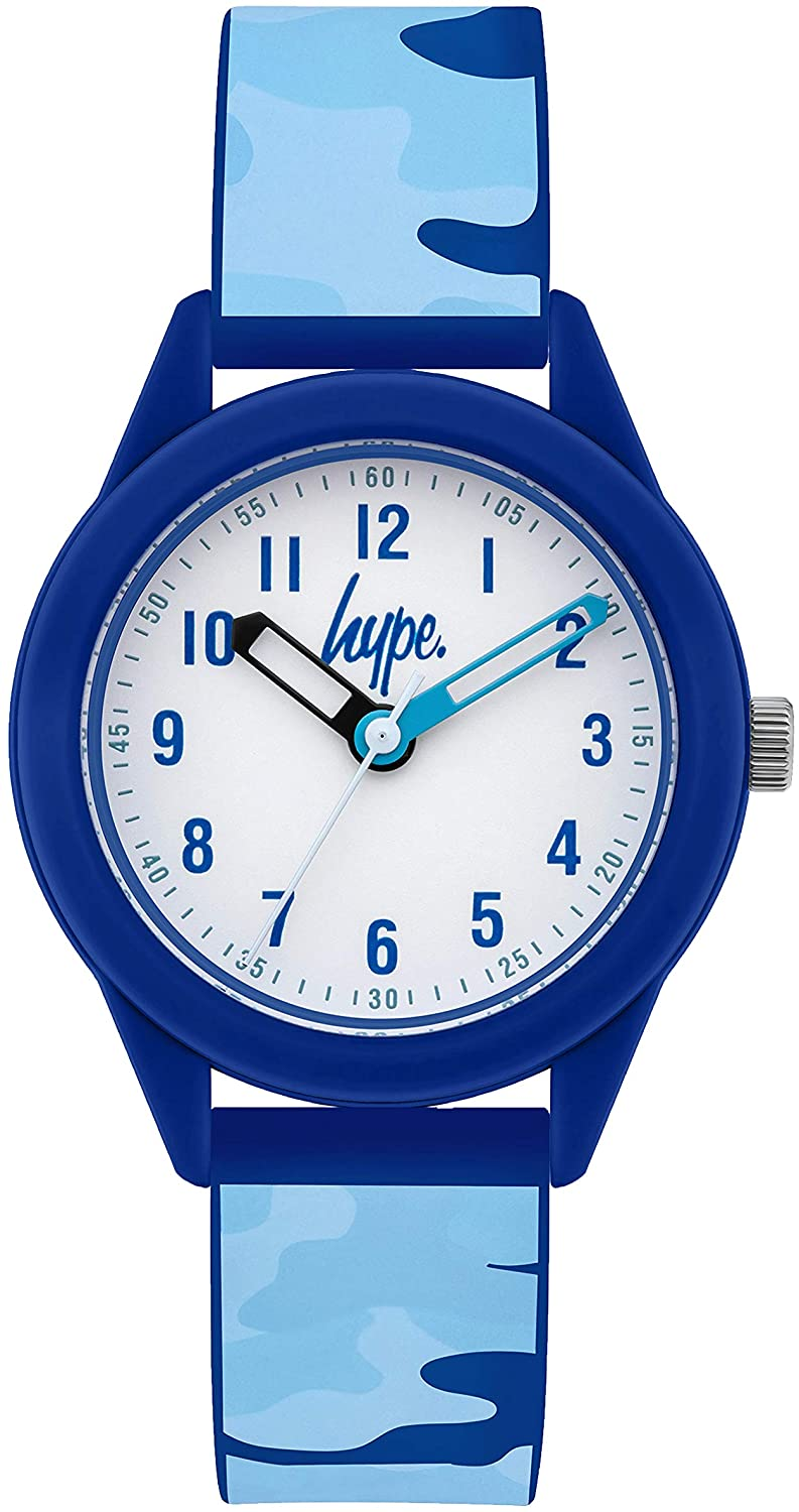 Blue Camo Kids Watch
