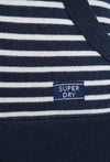 SUPERDRY APPLIQUE ZIP HOODIE - MYSTIC NAVY STRIPE