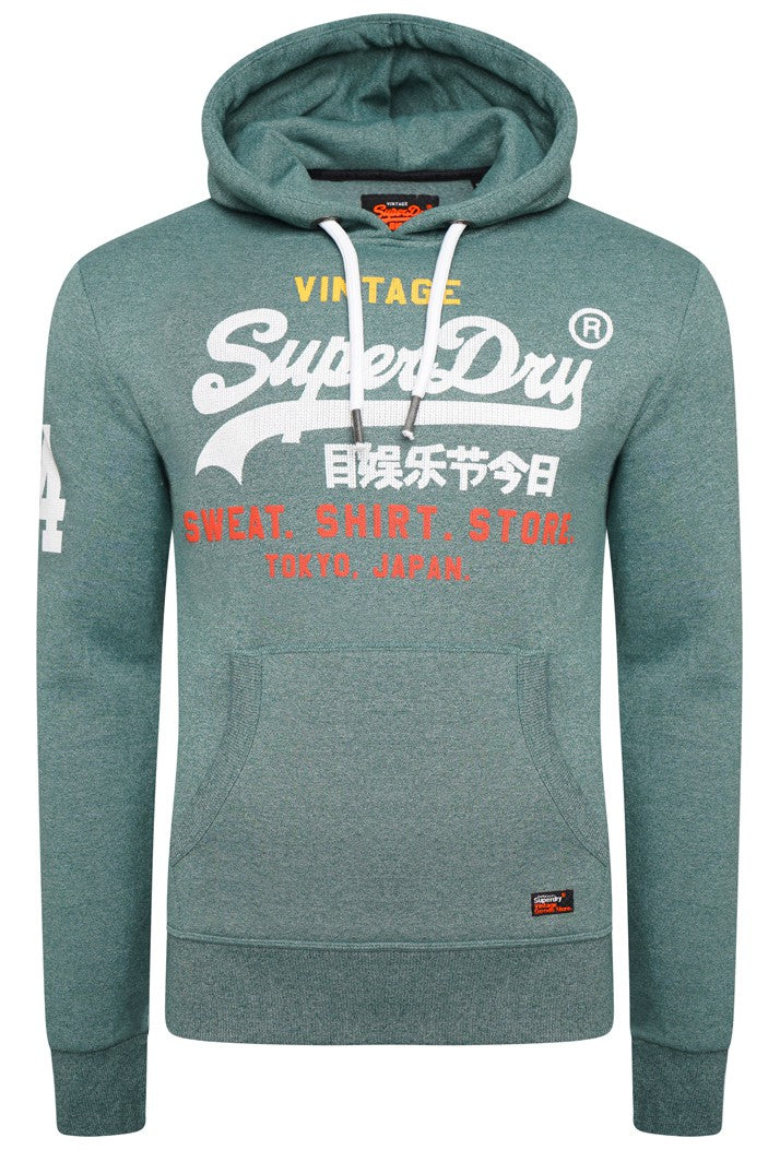 SUPERDRY SWEAT SHIRT STORE HOODIE - CLOVERFIELD GRIT