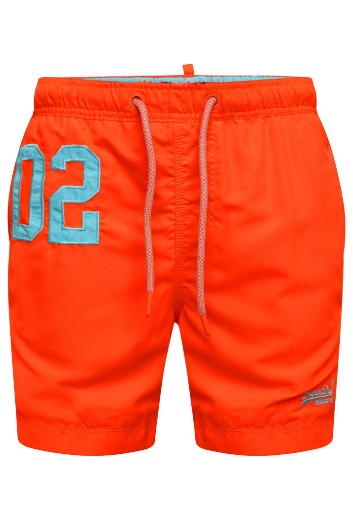 SUPERDRY WATER POLO SWIM SHORTS - HAVANA ORANGE