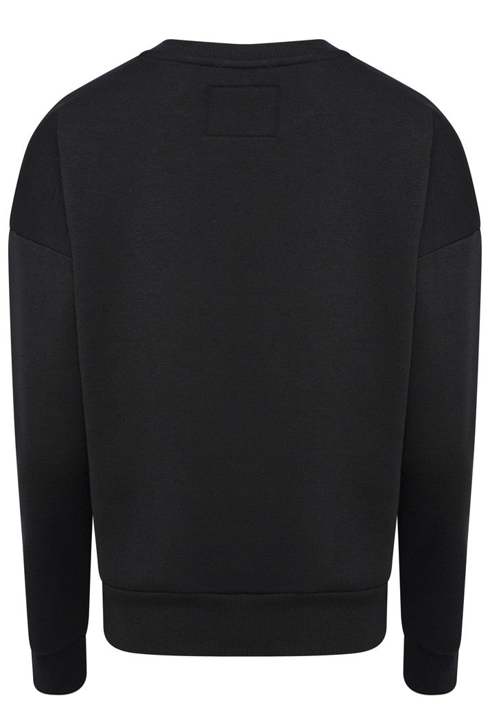 SUPERDRY ALICE CREW SWEATSHIRT - BLACK