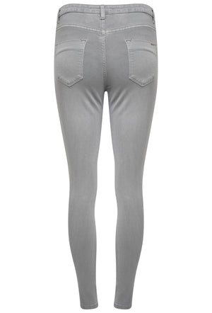 TOXIK3 L185-65 HIGH WAIST SKINNY JEANS - LIGHT GREY