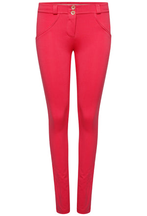 FREDDY WRUP1RC001 SHAPING EFFECT MID RISE SKINNY PANT - RED