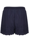 SUPERDRY ANNABELLE EMBROIDERED SHORTS - ECLIPSE NAVY