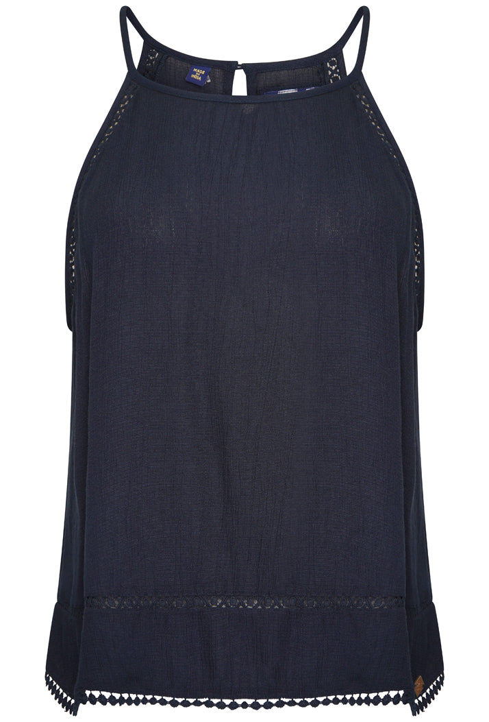 SUPERDRY RICKY CAMI TOP - ECLIPSE NAVY