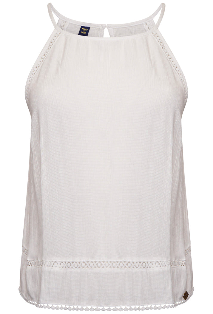 SUPERDRY RICKY CAMI TOP - WHITE