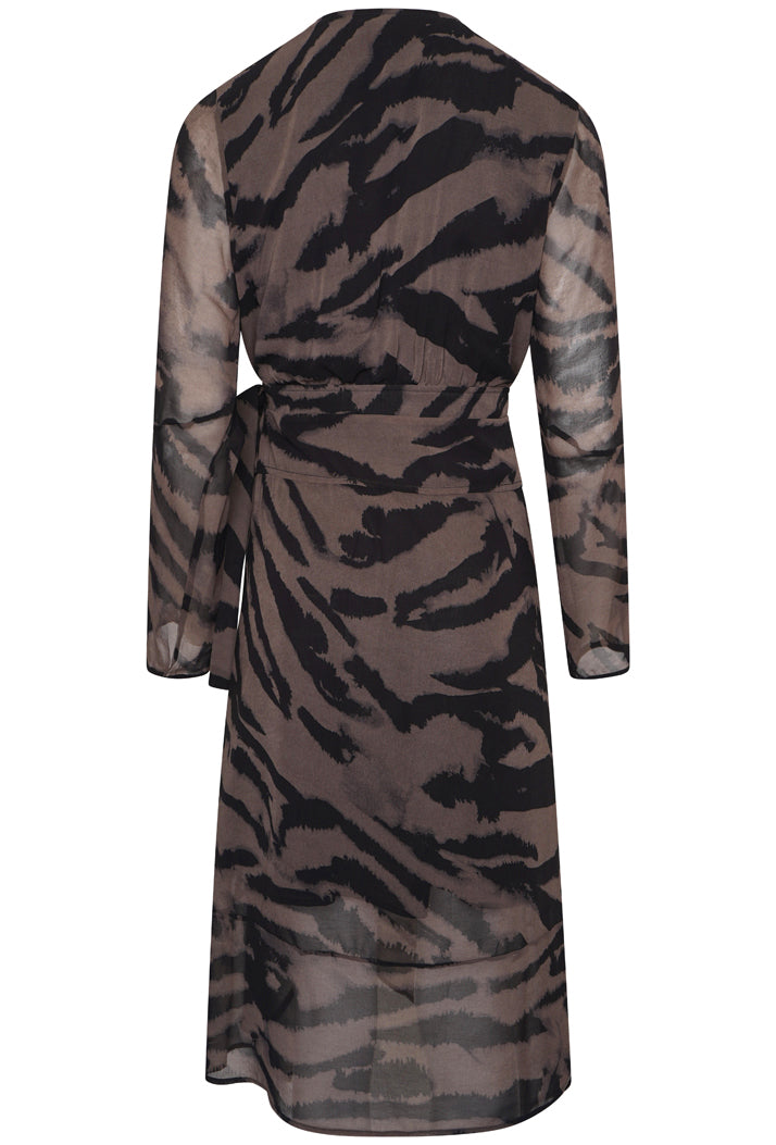 RELIGION GEM WRAP DRESS - VIGORIOUS PRINT
