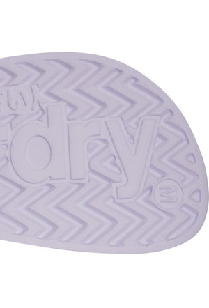 SUPERDRY PERFORATED JELLY POOL SLIDERS - OPTIC WHITE