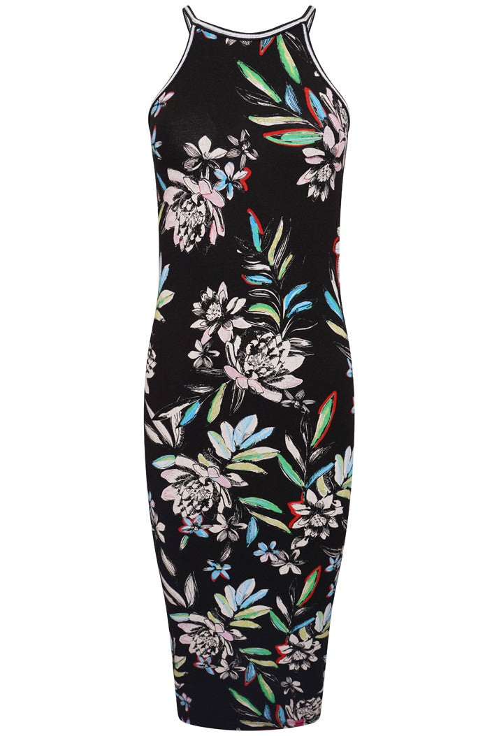 SUPERDRY TIANA MIDI DRESS - ALICE TROPICAL
