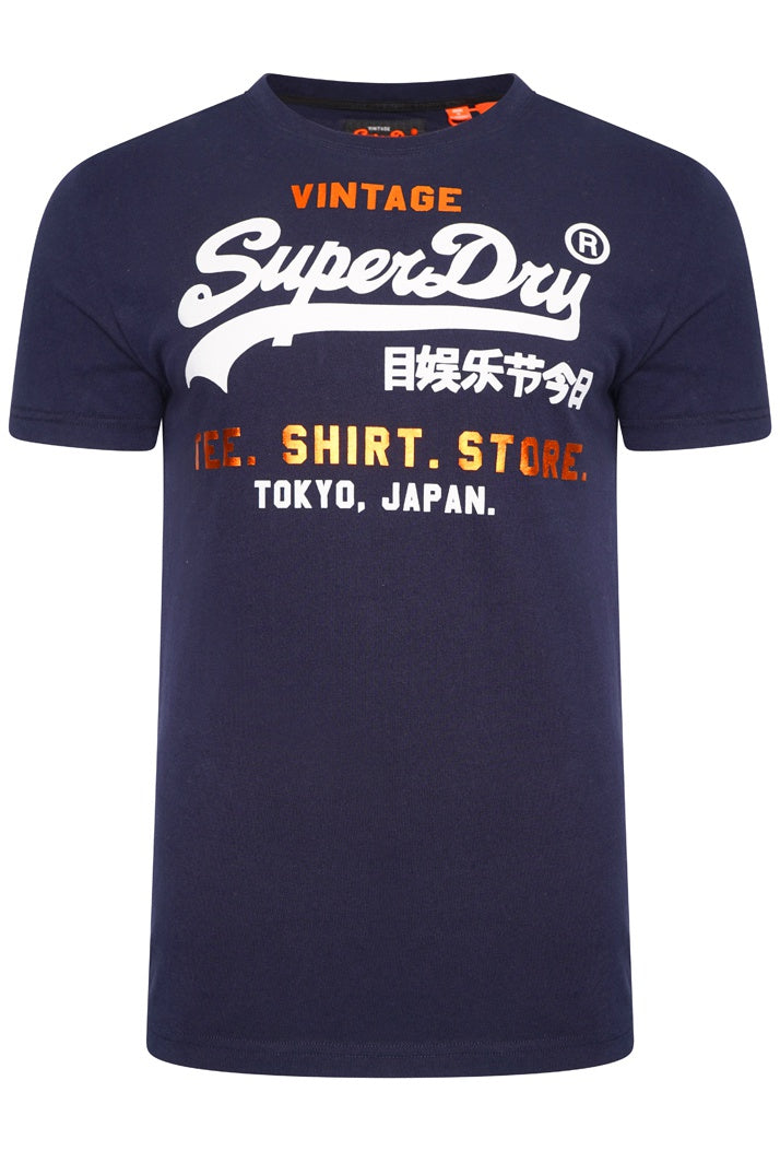 SUPERDRY SHIRT SHOP T-SHIRT - ACADEMY NAVY