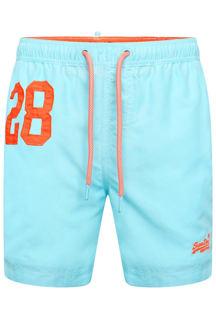 SUPERDRY WATER POLO SWIM SHORTS - LIGHT LAGOON BLUE