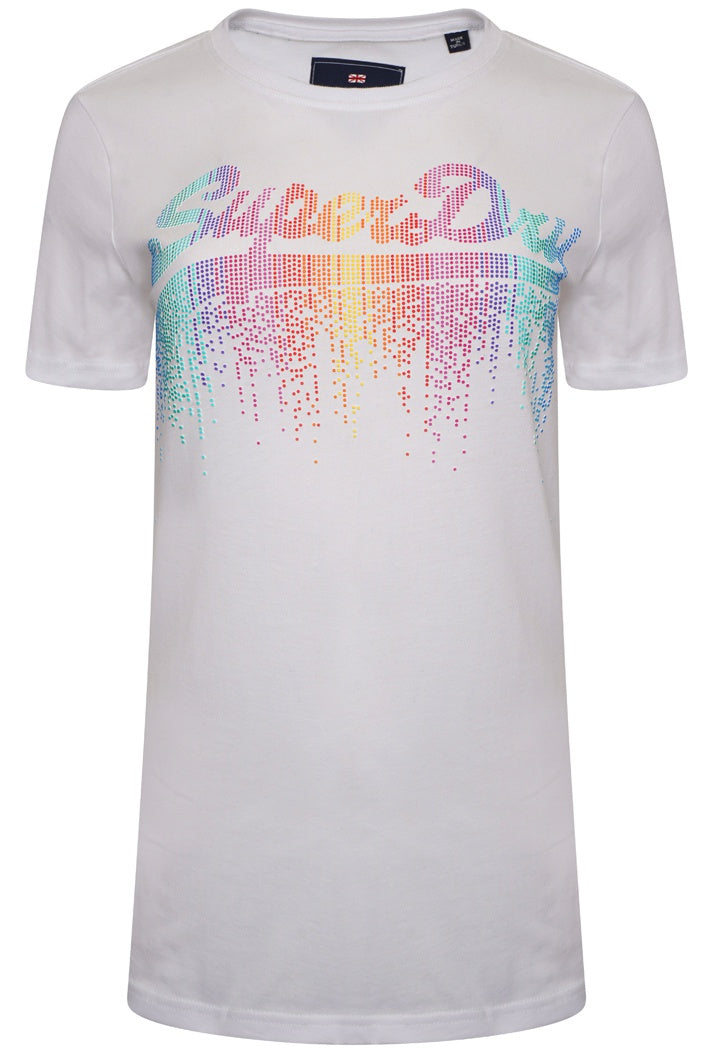 SUPERDRY VINTAGE LOGO CASCADE T-SHIRT - OPTIC