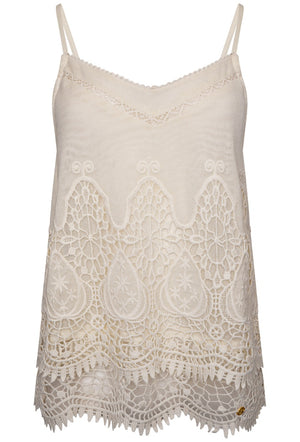 SUPERDRY AMANDA CAMI TOP - CREAM