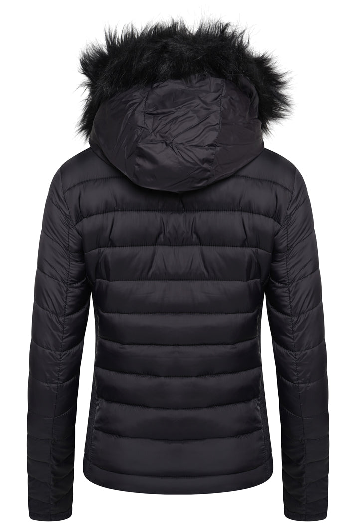 SUPERDRY FUJI SLIM DOUBLE ZIP HOODED JACKET - BLACK