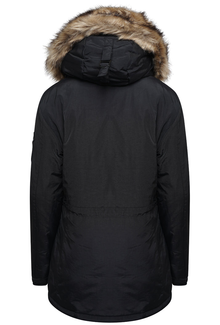SUPERDRY ASHLEY EVEREST JACKET - BLACK