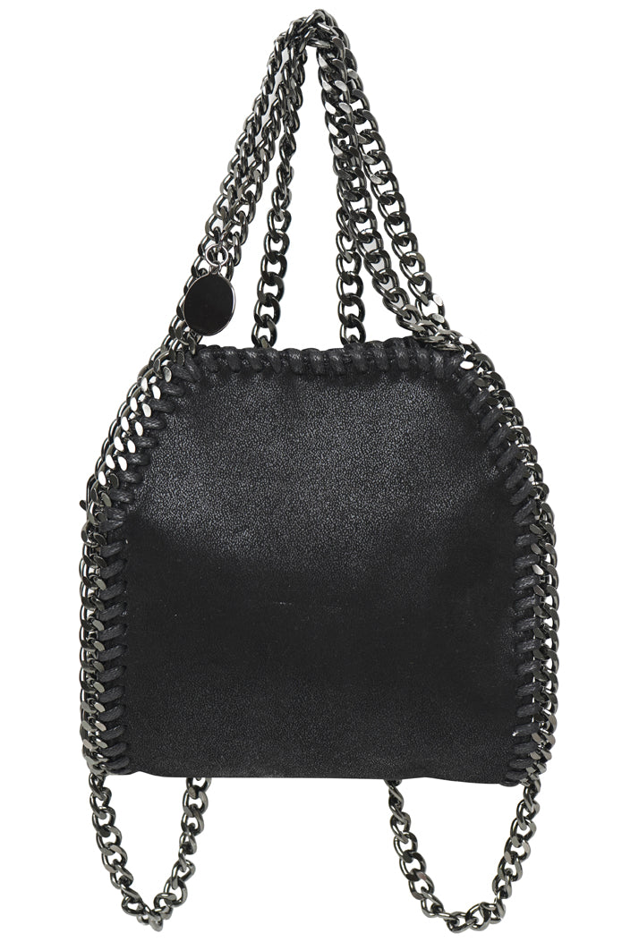 STELLA INSPIRED METALLIC MICRO X-BODY/TOTE BAG - BLACK