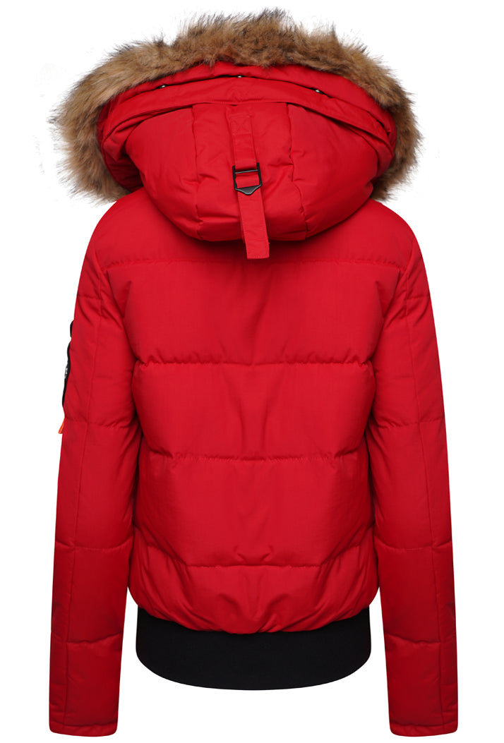 SUPERDRY EVEREST ELLA BOMBER JACKET - RED