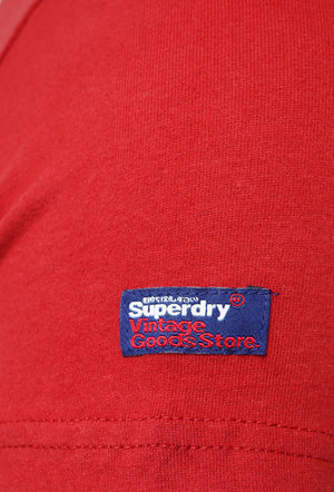 SUPERDRY PREMIUM GOODS T-SHIRT - FURNACE RED