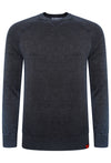 SUPERDRY GARMENT DYED L.A CREW JUMPER - WASHED NAVY THUNDER