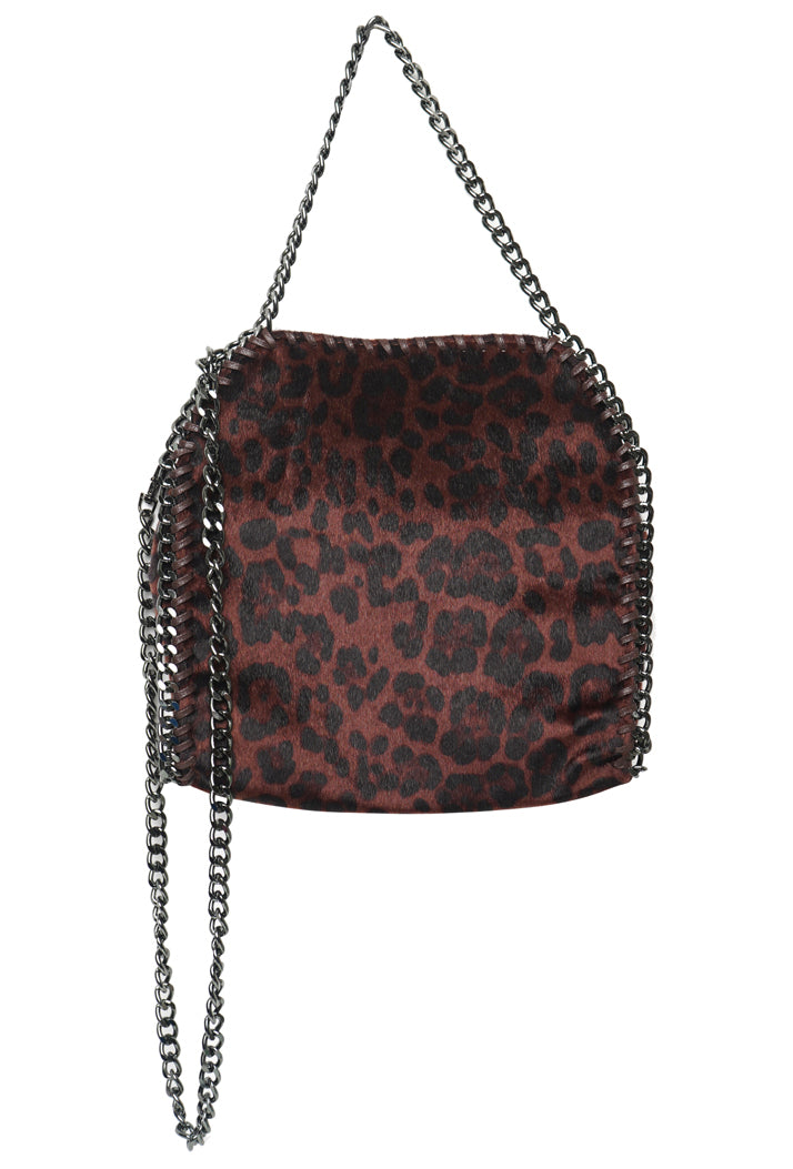 STELLA INSPIRED LEOPARD PRINT MINI TOTE CHAIN BAG