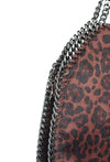 STELLA INSPIRED LEOPARD PRINT LARGE CHAIN BAG