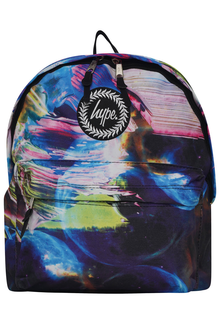 HYPE SPACE PAINT BACKPACK RUCKSACK BAG - MULTI