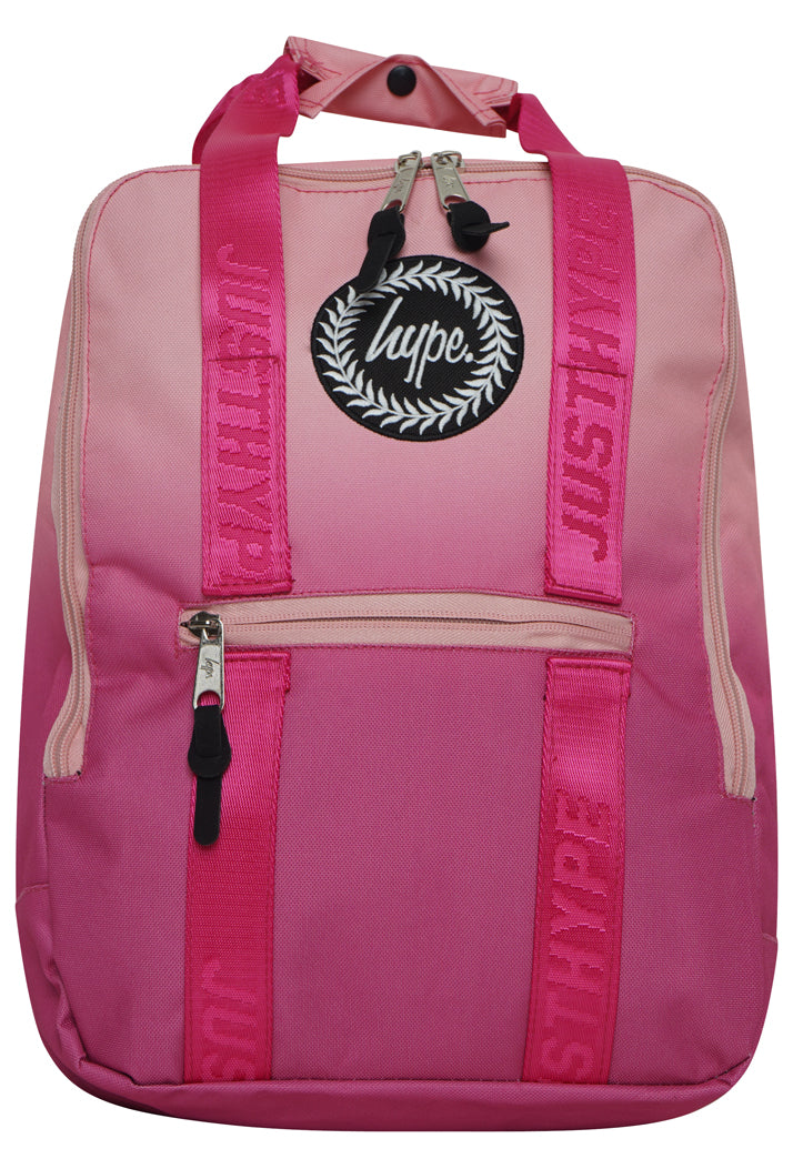 HYPE FADE BOXY BACKPACK RUCKSACK BAG - PEACH/PINK