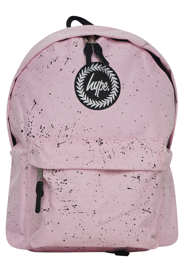 HYPE SPECKLE BACKPACK RUCKSACK BAG - BABY PINK/BLACK