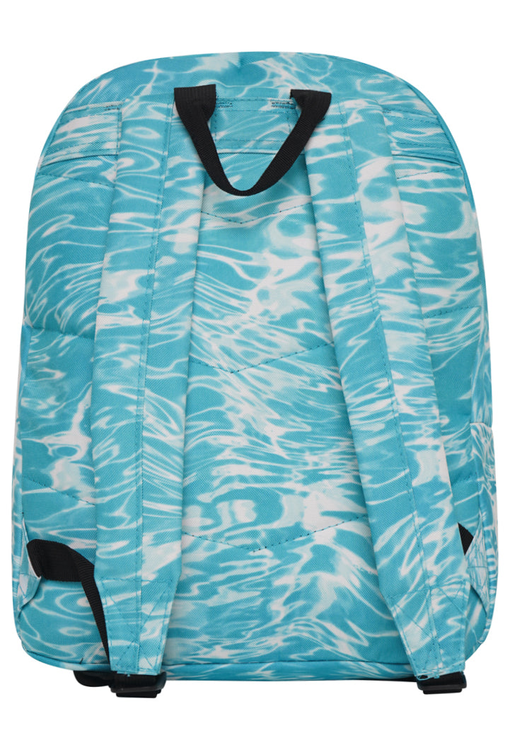 HYPE LIQUID MARBLE BACKPACK RUCKSACK BAG - AQUA