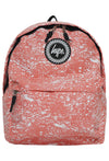 HYPE SPLAT BACKPACK RUCKSACK BAG - PEACH/WHITE