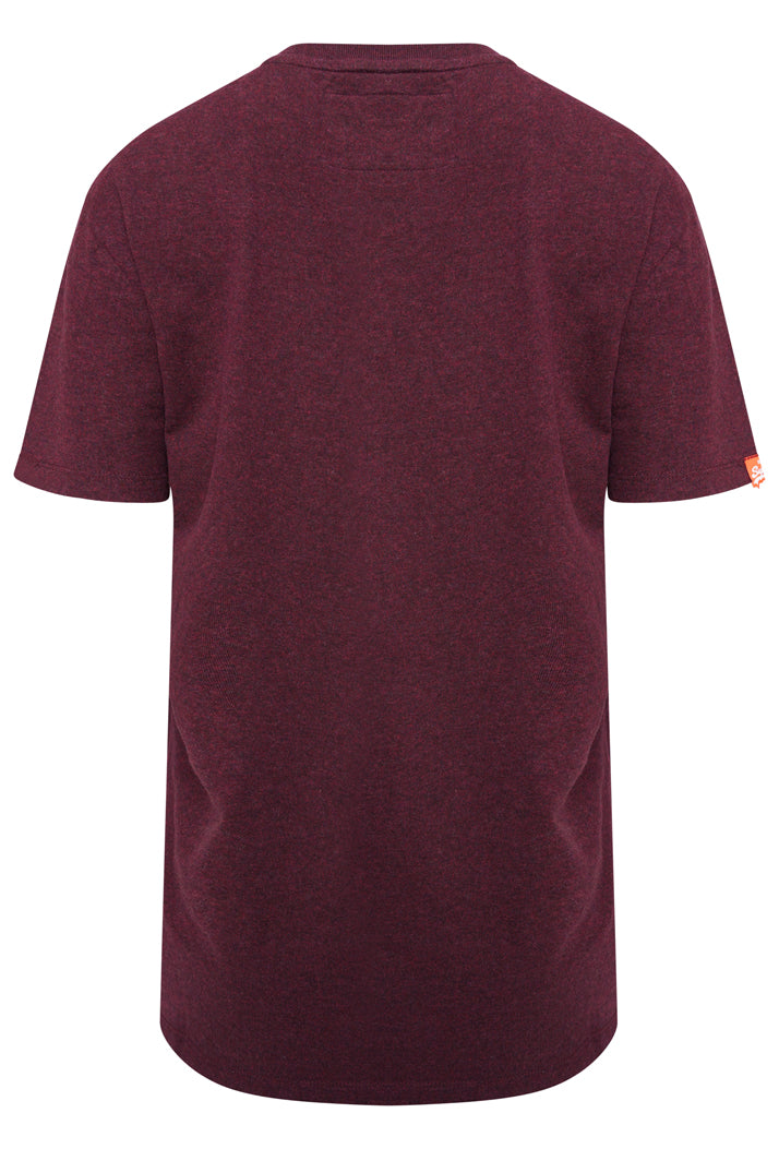SUPERDRY ORANGE LABEL EMBROIDERY T-SHIRT - BOSTON BURGUNDY GRIT