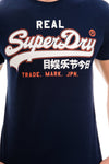 SUPERDRY VINTAGE LOGO T-SHIRT - TIN TAB NAVY