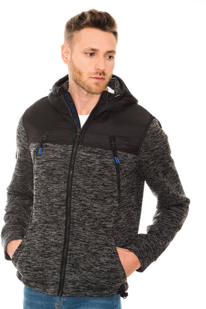 SUPERDRY MOUNTAIN ZIP HOODIE - BLACK GRANITE MARL
