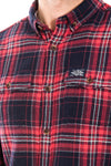 SUPERDRY WINTER WASHBASKET SHIRT - NEVADA RED CHECK